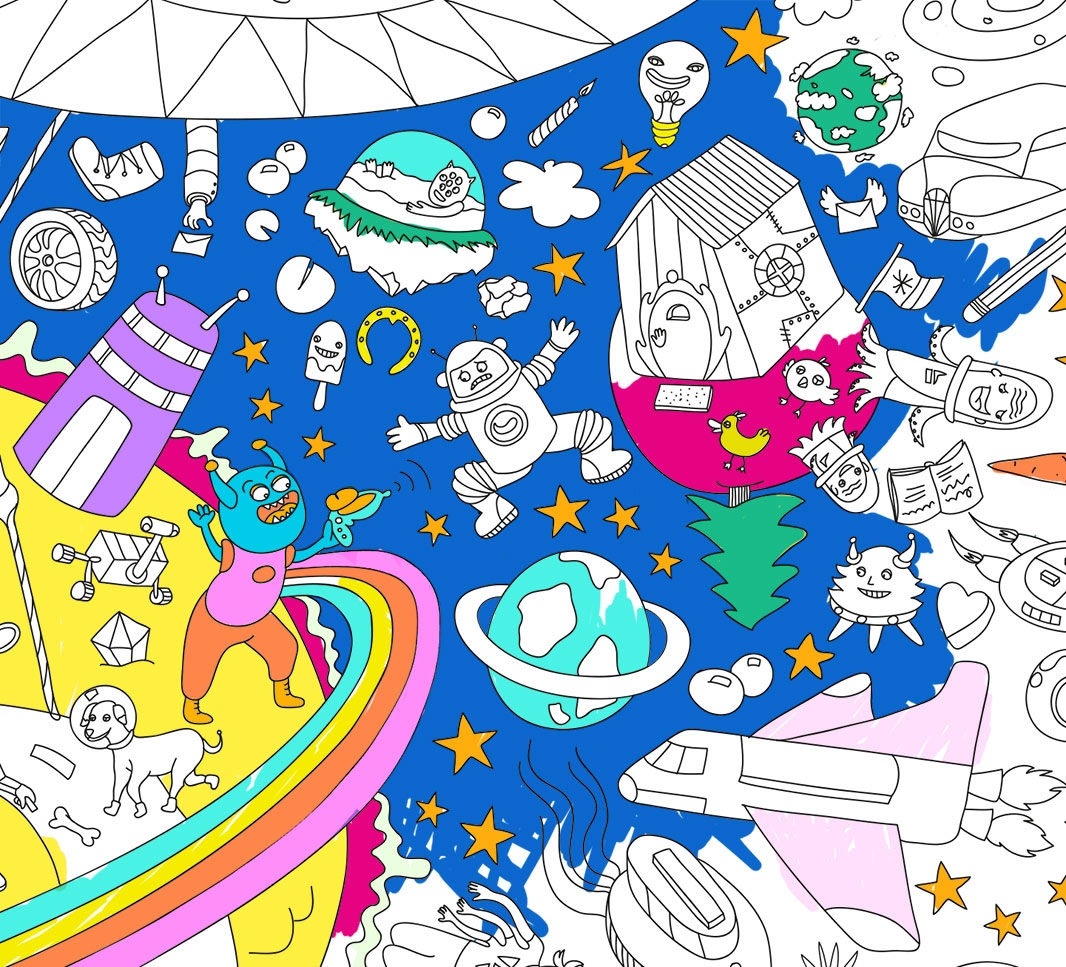 Cosmos, Giant coloring poster